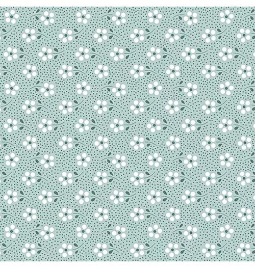Tecido Tricoline Mini Primavera - Azul claro