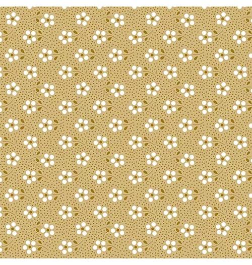 Tecido Tricoline Mini Primavera - Caramelo