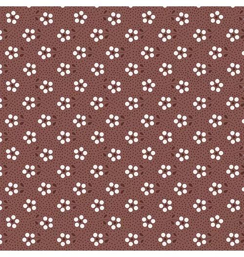 Tecido Tricoline Mini Primavera - Vinho