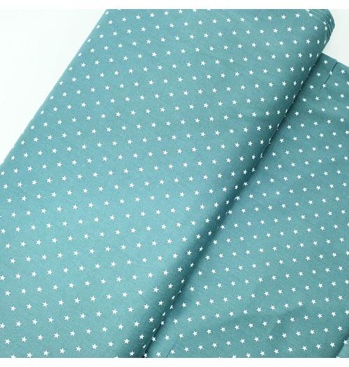 Tecido Tricoline Estrelinhas - Verde menta