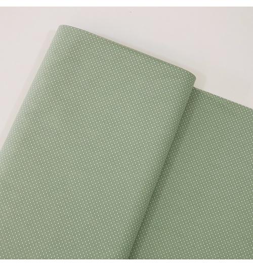 Tecido Tricoline 100% algodão Micro Poá - Verde Mineral