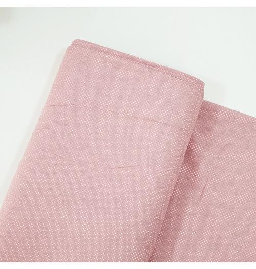 Tecido Tricoline 100% algodão Micro Poá - Rosê Blush
