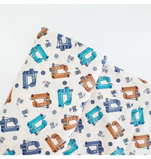 Tecido Tricoline Máquina de Costura - Azul