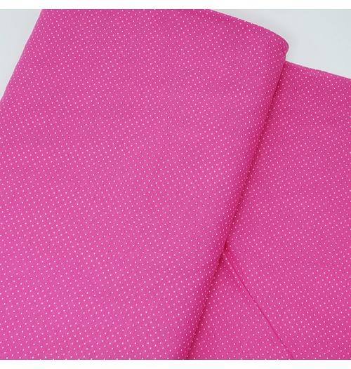 Tecido Tricoline Misto Micro Poá - Pink