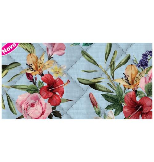 Placa de matelassê ultrassônico - Floral Havaiano G