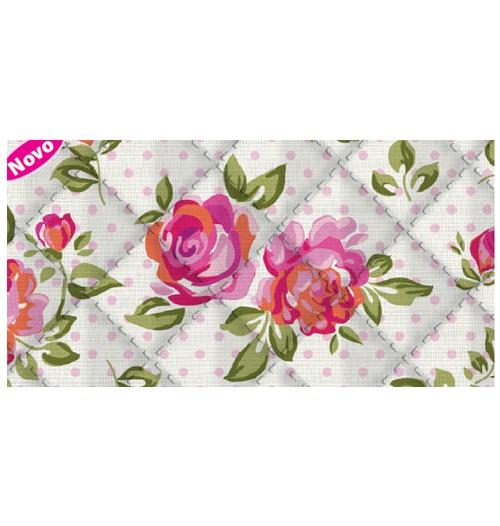 Placa de matelassê ultrassônico - Floral Poá G