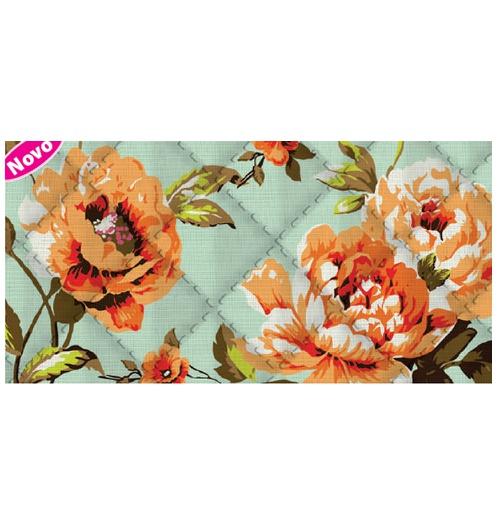 Placa de matelassê ultrassônico - Floral Valência G