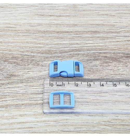 Fecho de engate rápido plástico 10mm - AZUL CLARO (10 unidades mesma cor)