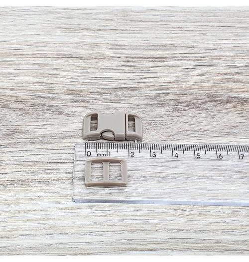 Fecho de engate rápido plástico 10mm - BEGE (10 unidades mesma cor)