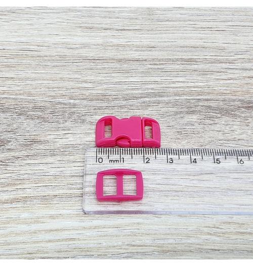 Fecho de engate rápido plástico 10mm - PINK (10 unidades mesma cor)