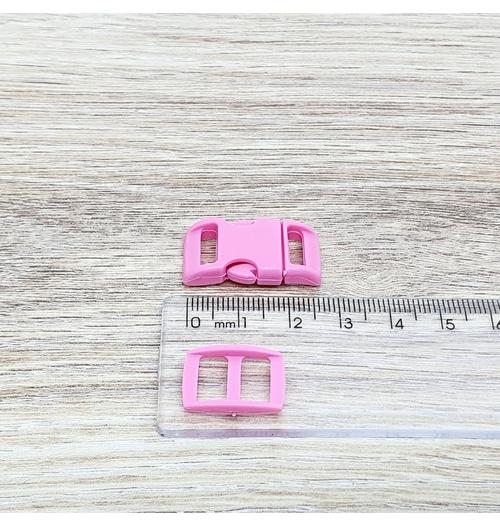 Fecho de engate rápido plástico 10mm - ROSA (10 unidades mesma cor)