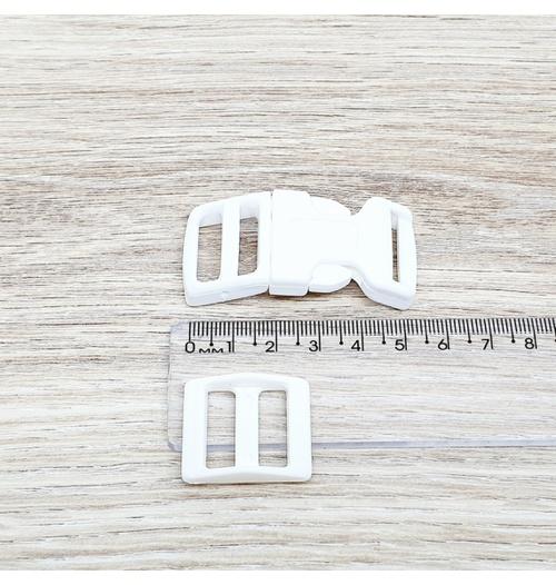 Fecho de engate rápido plástico 20mm - BRANCO (10 unidades mesma cor)