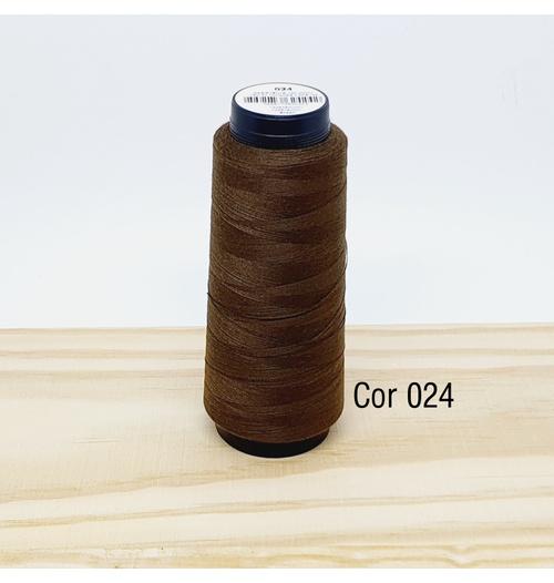 Linha para costura Resistente 2000j - cor 024 (café)