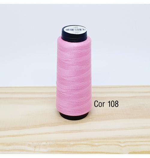 Linha para costura Resistente 2000j - cor 108 (rosa chiclete)