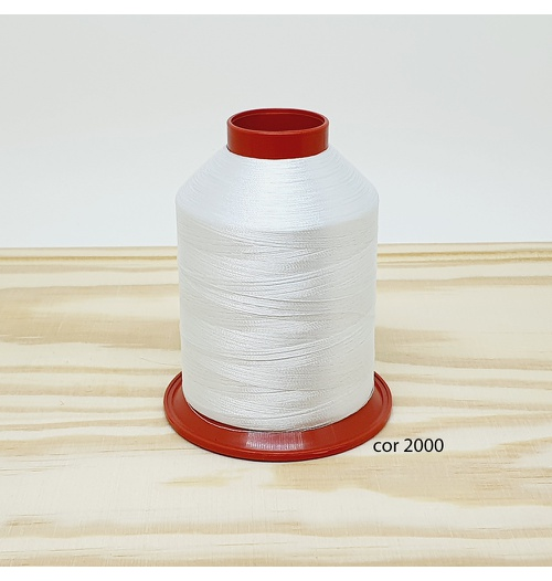 Linha para bordar Ricamare 4000mt - cor 2000 (branca)
