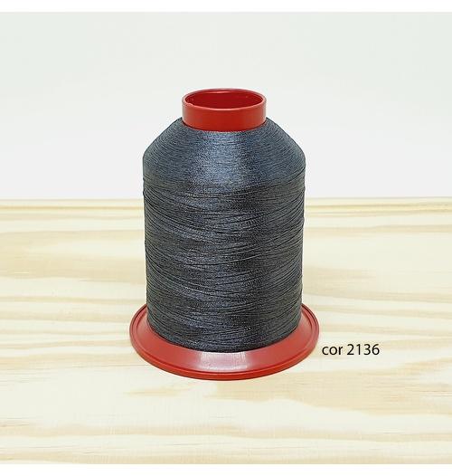 Linha para bordar Ricamare 4000mt - cor 2136 (cinza escuro)