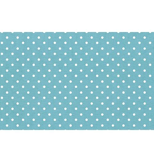 Viés Bolinha Marilda 24mm - Azul claro (rolo com 20 metros)