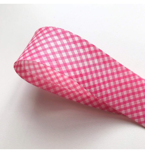 Viés Xadrez PEQUENO Cinderela - Pink (rolo com 20 metros)