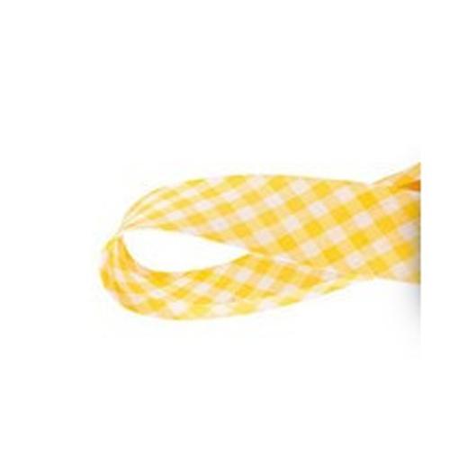Viés Xadrez GRANDE Cinderela - Amarelo (rolo com 20 metros)