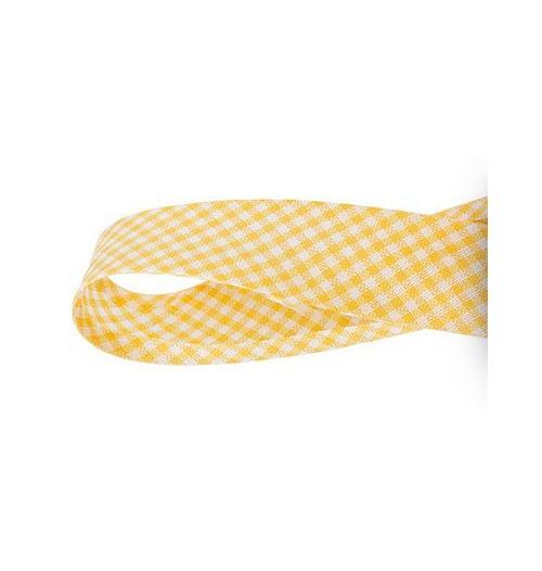 Viés Xadrez PEQUENO Cinderela - Amarelo (rolo com 20 metros)