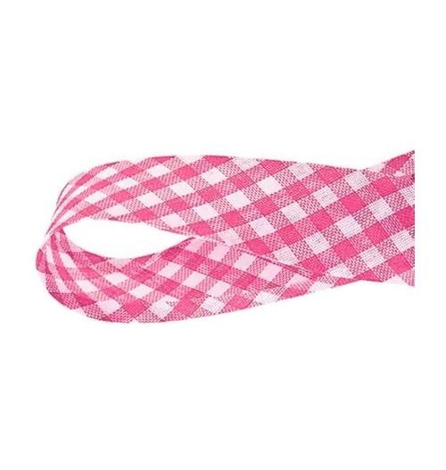 Viés Xadrez GRANDE Cinderela - Pink (rolo com 20 metros)