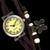 Relógio Feminino com Couro e Acessórios Ouro Velho