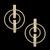 Brinco Folheado à Ouro 18k Harmonia