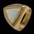 Anel folheado Agua Marinha Triangular