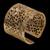Anel folheado em ouro 18k flor esculpida estendido