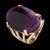 Anel Folheado à Ouro com Pedra Natural Formato Oval
