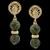 Brinco folheado à Ouro 18k com Pedra Natural Jaspe Verde