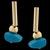 Brinco folheado à Ouro 18k Pedra Natural Osso Azul