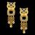 Brinco folheado à Ouro 18k Tigre