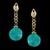 Brinco Correntes & Resina Aquamarine