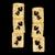 Brinco folheado à ouro 18k com ródio Papiro
