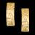 Brinco Folheado à Ouro Diamantado Egito