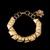 Pulseira folheada a ouro 18k,com pingente de zirconia