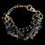 Pulseira Folheada à Ouro com Pedra Natural Obsidiana