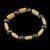 Pulseira fio de silicone Jade Caramelo