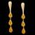 Brinco folheado em ouro 18k topázio amarelo