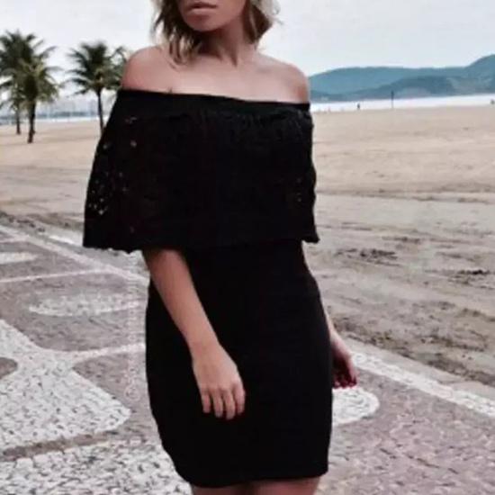 Vestido Trico Bohemian Preto