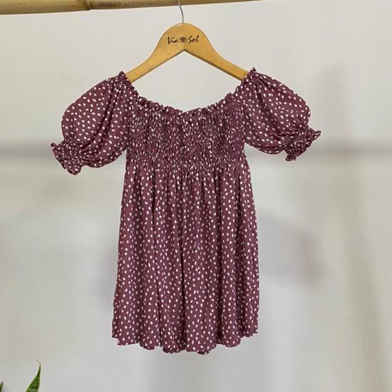 Vestido Infantil Lastex Veneza