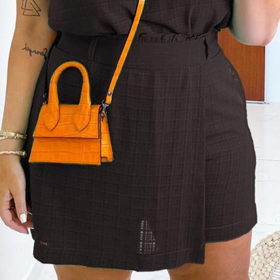 Short-saia Bruna Plus Size Preto
