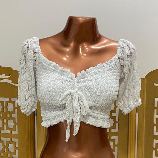 Cropped Bia Boho Plus Size Branco