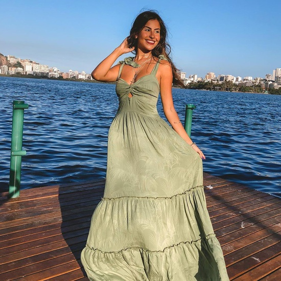 Vestido Maldivas Verde Claro