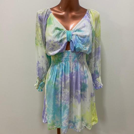 Vestido Essência Tie Dye Sky