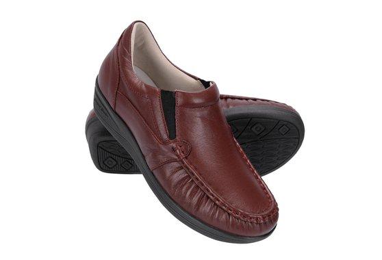 Sapato Feminino de Couro - Vinho