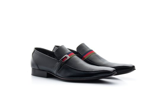 Sapato Masculino Solado de Couro Preto