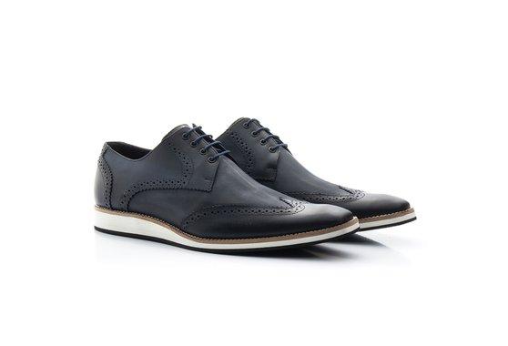 Sapato Brogue Masculino Azul