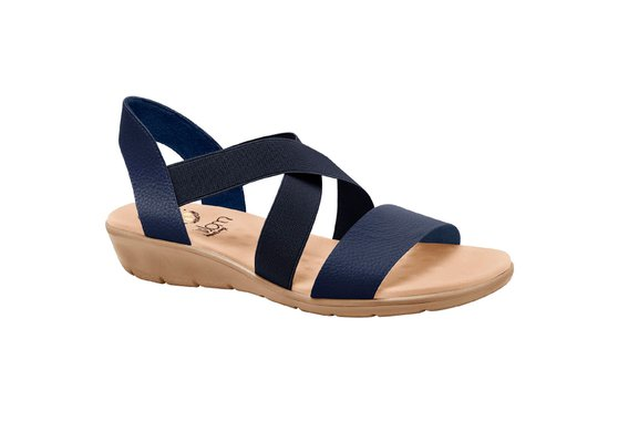 Sandália Confort Feminina - Azul Eclipse